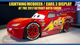 2017 Detroit Auto Show Lightning McQueen Cars 3 Display