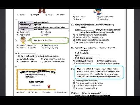 Download 7. Sınıf Trial Exams 1