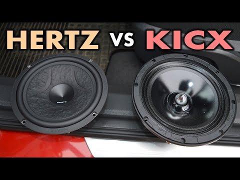 Заруба Hertz EV165L Vs Kicx EX6. Прослушка. Сравнение. ЗВУК.