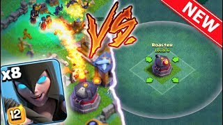 MAX NIGHT WITCHES vs MAX ROASTER! GEMMING TO *NEW* BUILDER'S HALL 6 IN CLASH OF CLANS!