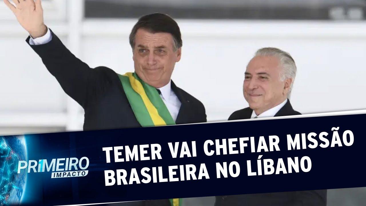 Bolsonaro anuncia missão de ajuda ao Líbano chefiada por Michel Temer | Primeiro Impacto (10/08/20)