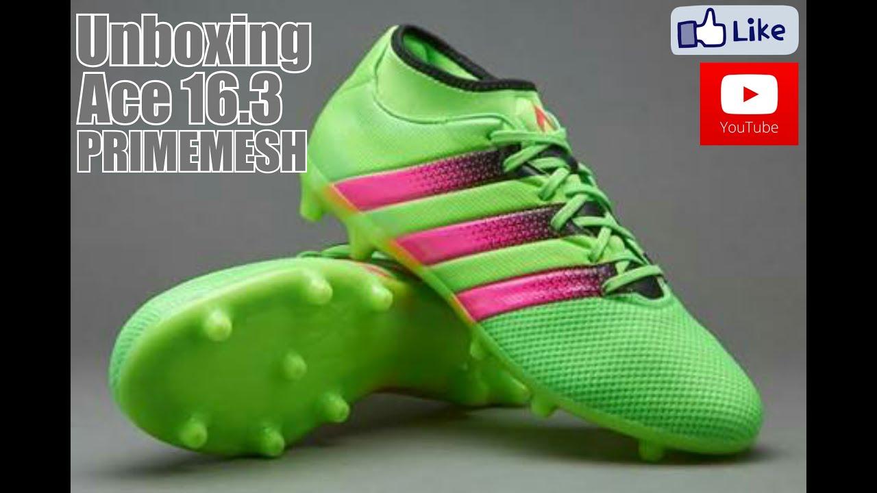 13231ccae517 Unboxing - Chuteira Ace 16.3 Primemesh Adidas Campo - YouTube