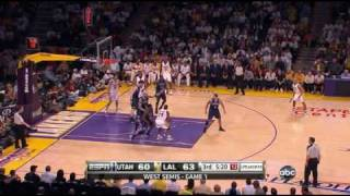 Jazz 99 @ Lakers 104 | Western Conference Semi-Finals Game 1 | Kobe comes up big in the clutch