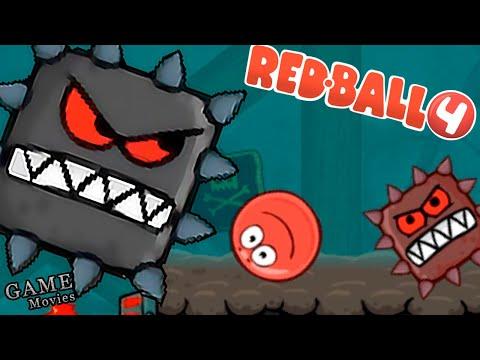 Несносный Красный Шар ПРОТИВ Подземных Квадратов! Приключения Красного Шарика Red Ball 4