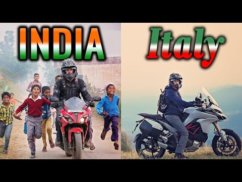 Motorcycle Travel Adventure in India/Italy w/ Safety Technology- Multistrada and Pulsar 200