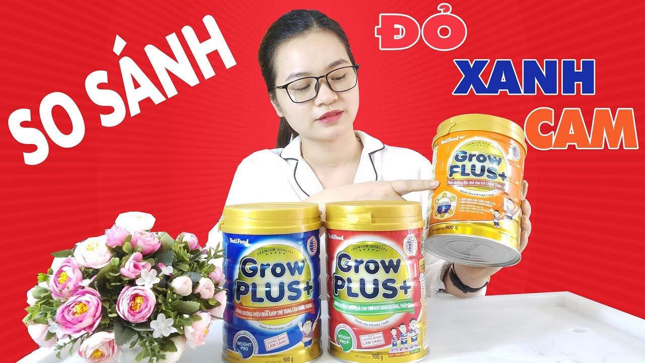 So sánh 3 dòng sữa GROW PLUS+ của Nutifood – Sữa Tăng Cân Cho Bé – SBT Vlog 32