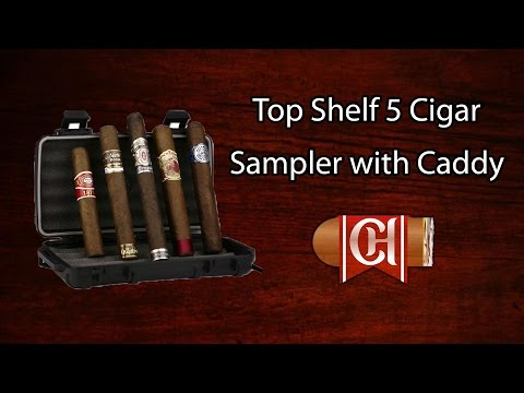 Top Shelf 5 Cigar Sampler with Cigar Caddy