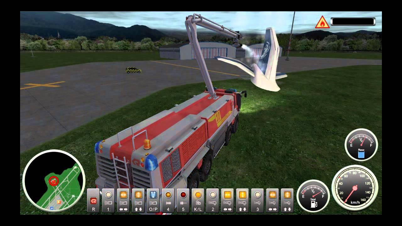 Lets Play: Flughafen feuerwehr Simulator - YouTube