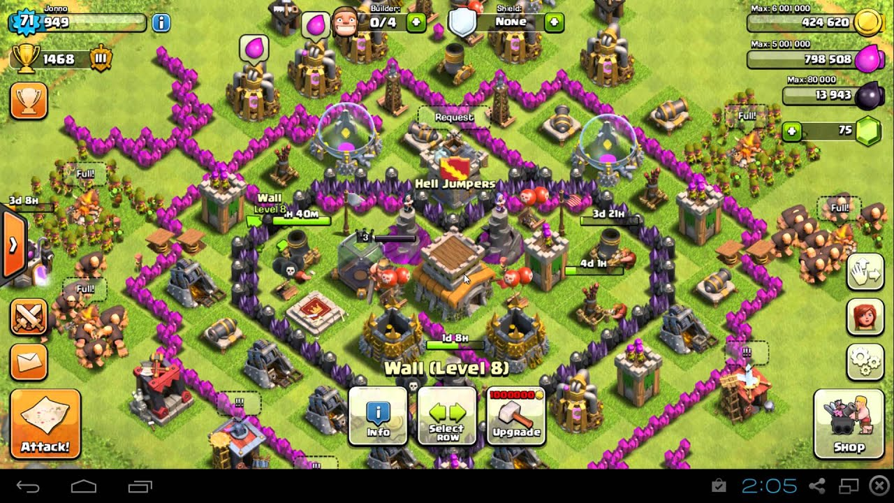 Coc th8 base design - Clash Of Clans Heart Attack Th8 Trophy Base Design Updated Youtube