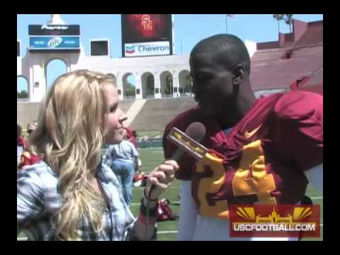 USC Spring Game: Shareece Wright and Malcolm Smith