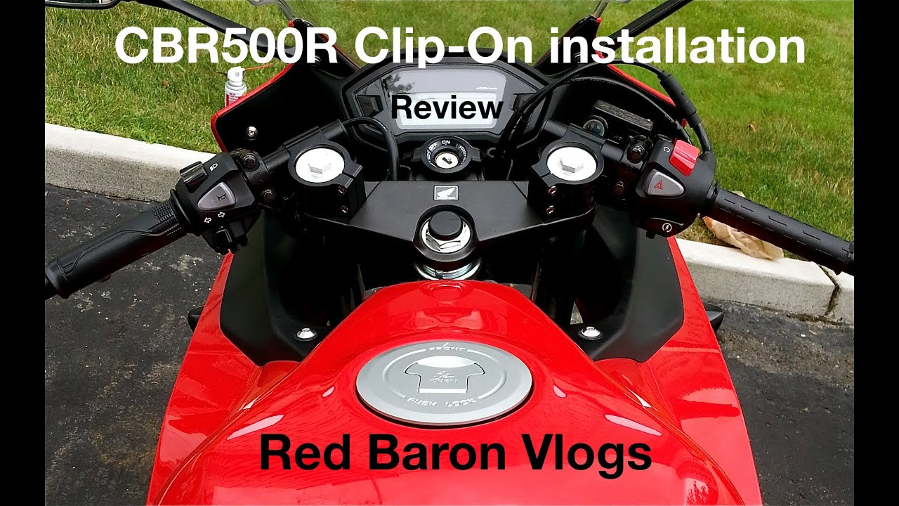Cbr500r Installation And Review Of Clip On Handelbars
