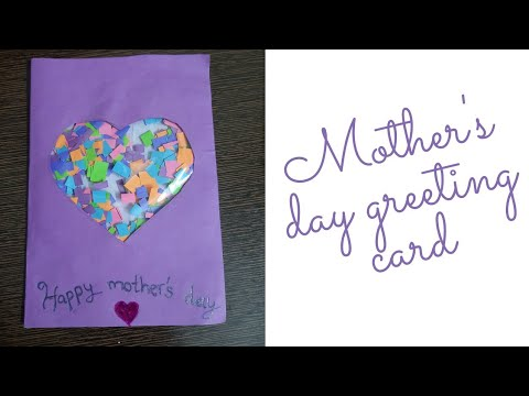 Mother's Day Greeting Card|DIY mother's Greeting Card|how ...