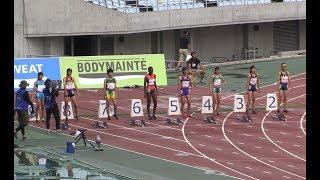 全中陸上  女子100m準決勝1~3組   2019.8 大阪