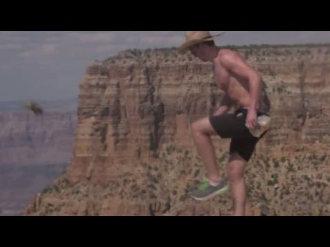 Heartless Man Kicks Squirrel Off The Grand Canyon & Films It