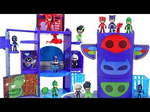 Transformation base is broken! PJ Masks New Mission Control HQ Playset upgrade! #DuDuPopTOY