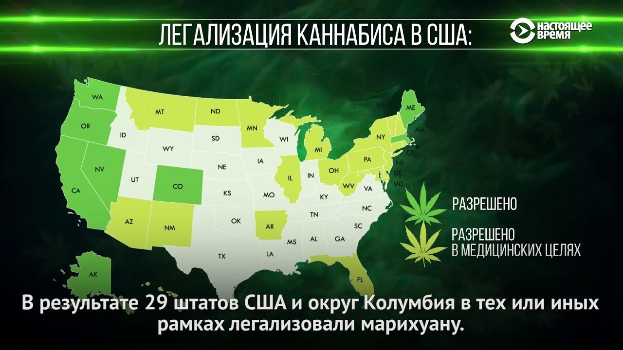 В каком из штатов сша легализована марихуана долгое употребление конопли