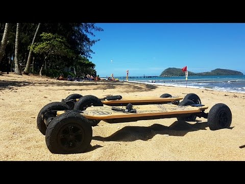 Palm Cove Chill Queensland Evolve Bamboo Electric Skateboard OSMO