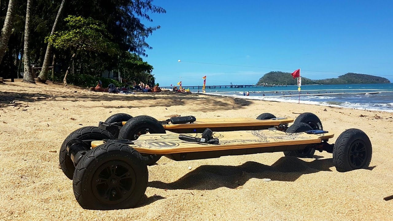 Palm Cove Chill Queensland Evolve Bamboo Electric Skateboard OSMO  YouTube