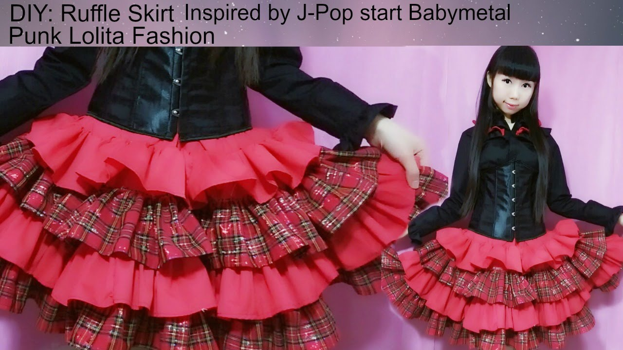 Diy Sew A Ruffle Skirt Inspired By Jpop Star Babymetal Punk Fashion You