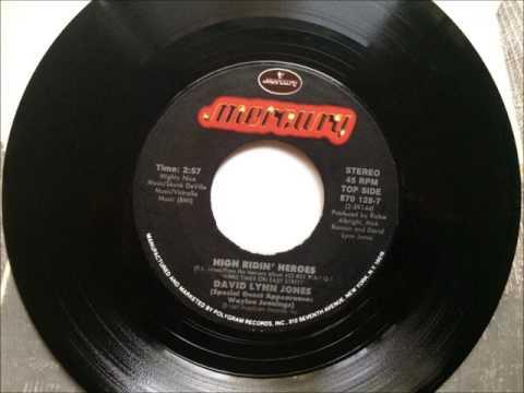 High Ridin' Heroes , David Lynn Jones & Waylon Jennings , 1987 45RPM