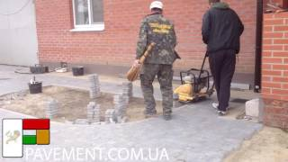 Трамбовка тротуарной плитки