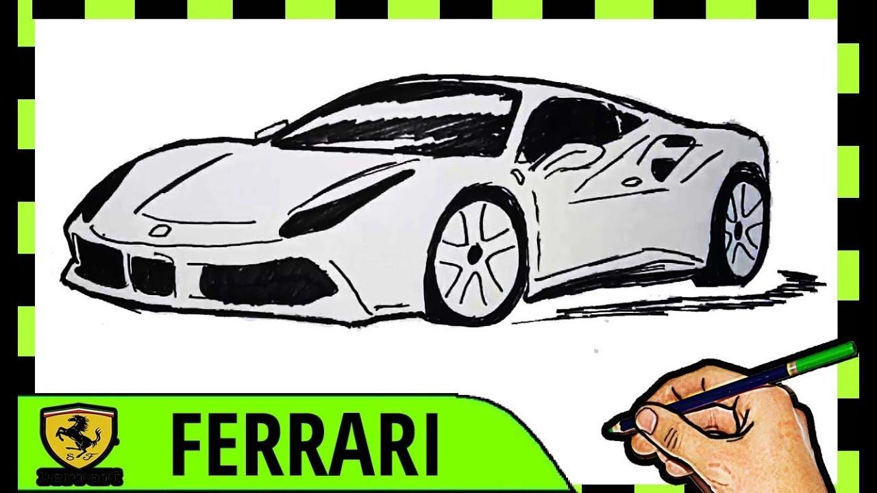 Begini Cara Menggambar Mobil Ferrari Youtube