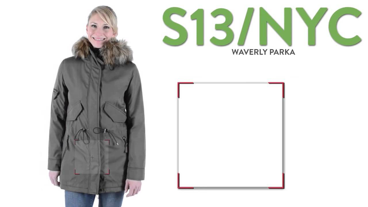 4ab99c1d293 S13 NYC Waverly Parka - Faux-Fur Hood Trim (For Women) - YouTube
