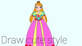 How to draw princess
