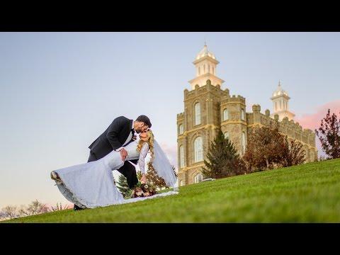 The Wood Wedding at Logan Temple