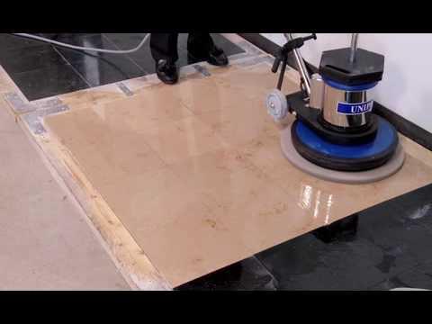 How to Polish Stone Floors Using Diamond Polishing Pads - Jon-Don Video