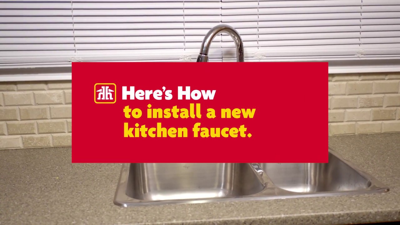 Here S How To Install A New Kitchen Faucet Youtube