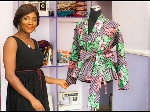 HOW TO MAKE AN OVERLAPPED PEPLUM BLOUSE