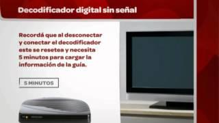 ¿Qué hacer cuando el decodificador digital se encuentra sin señal?