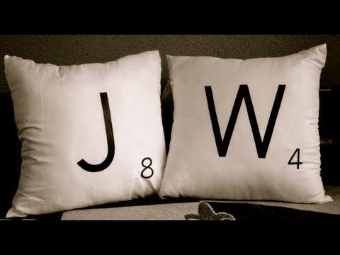 DIY Scrabble Pillows - YouTube