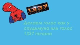 Как сделать голос спудимуна или поцана 1337 в скайпе