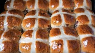 Булочки пасхальные. Английские горячие крестовые булочки/hot cross buns
