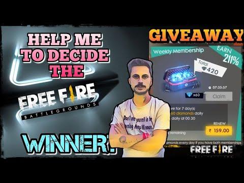 HELP IGL TO DECIDE THE WINNER OF LAST MONTH GIVEAWAY WINNER!!