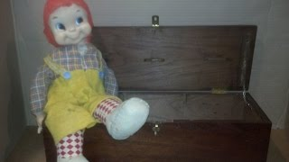New DOLL. CHARLIE IN Own COFFIN (Wooden Box) unrevealed