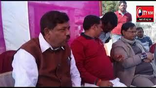 गौशाला निर्माण को लेकर चंदवा प्रखंड पहुंचे राज्य के कृषि मंत्री रण्धीर सिंह