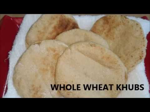 ഗോതമ്പ് ഖുബ്‌സ്/ Whole Wheat Khubs with out oven/ In 1 minute in bread toaster/English subtitle