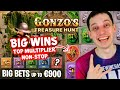 BIG WINS on GONZOS TREASURE HUNT – The BEST LIVE CASINO GAME EVER!