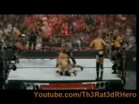 Raw 4/21/08- 8 Man Tag Team Match