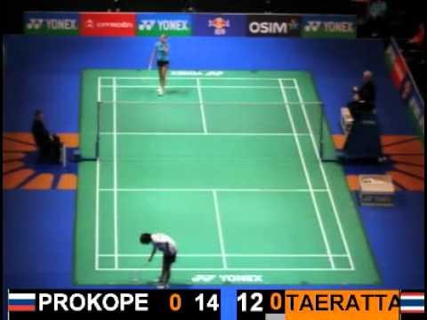 Anastasia Prokopenko vs Sapsiree Taerattanachai All England 2012