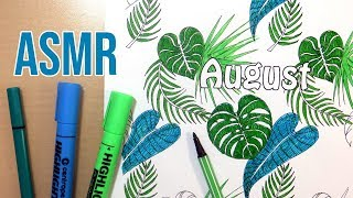 Monstera Leaf ASMR Marker Coloring - No Talking