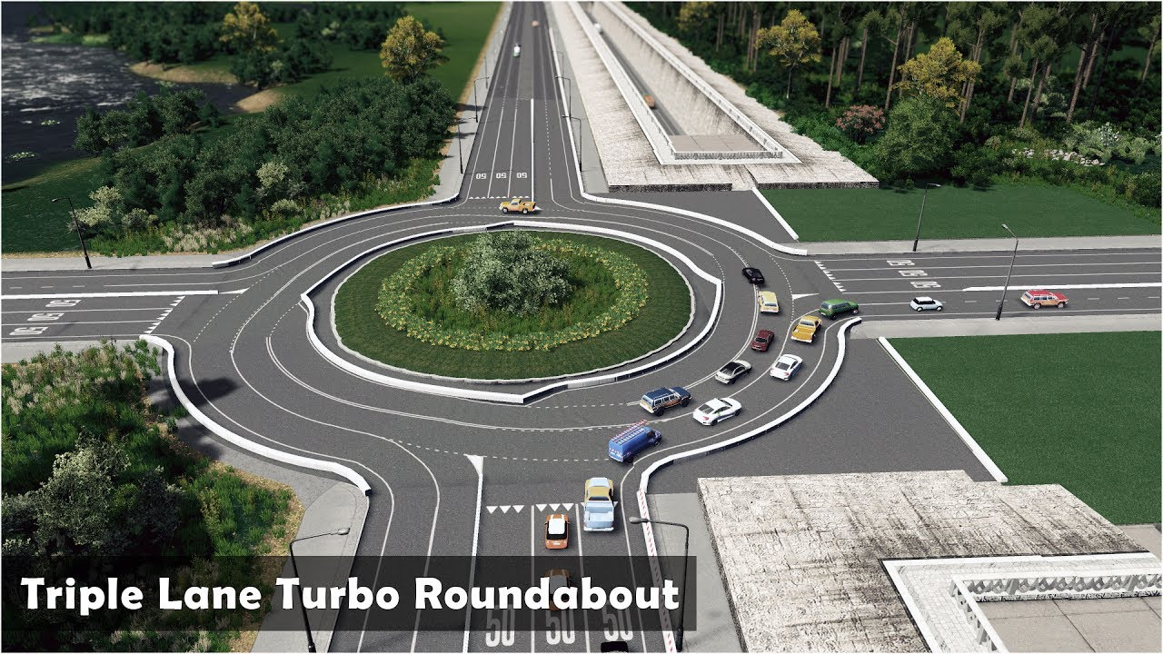 how to make roundabout cities skylines
