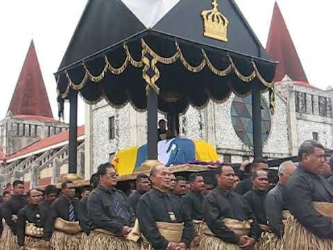 King Taufa'ahau Tupou IV's burial - Kingdom of Tonga