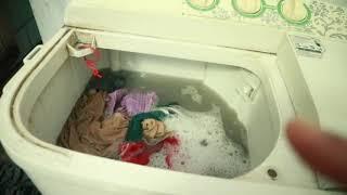Cara Mencuci Pakaian Dengan Mesin Cuci Dua Tabung !!