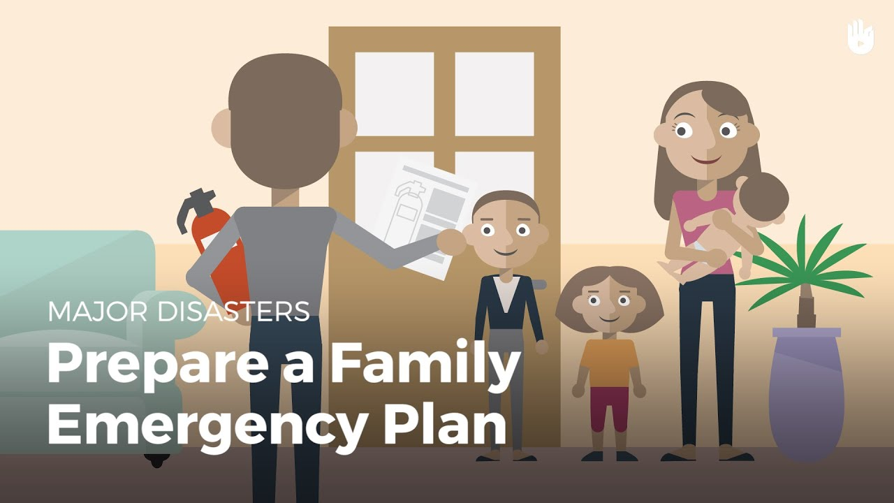 prepare a family emergency plan disasters youtube