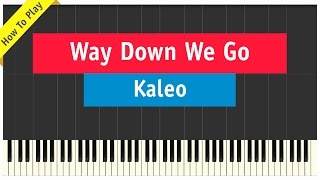 Скачать Kaleo Way Down We Go Piano Cover How To Play Tutorial