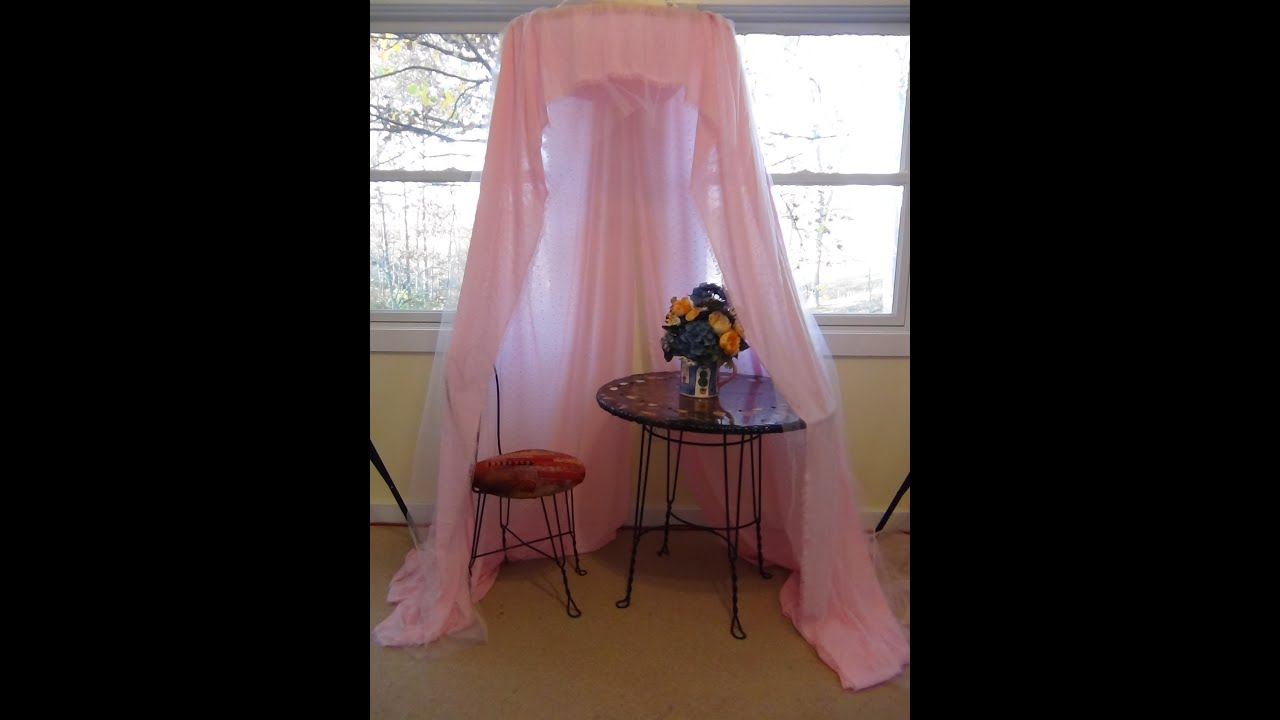 How To Make A Quick, No Sew, Easy Canopy For Your Princess   YouTube